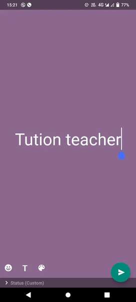 Tution teacher
