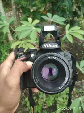 Kamera nikon d3200 lensa fix 50mm
