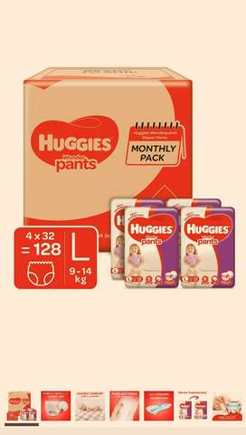 Huggies dipers L size available