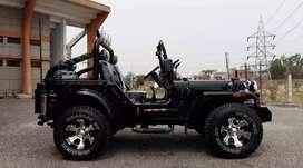 Black modified open jeep