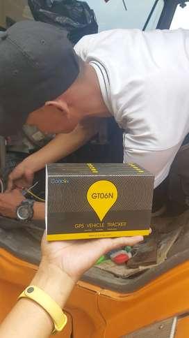 Pasang gps tracker GT06N pengawas pemantau posisi mobil on off enggine