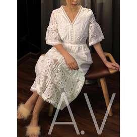 Dress wanita premium putih size S