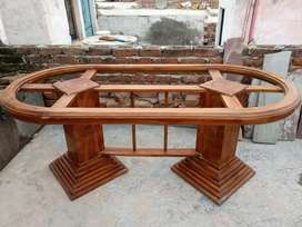 6 Seats Glass Dining table