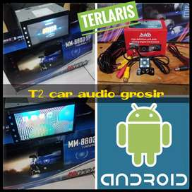 2din android asli merk MTECH 7inc terlaris plus camera hd harga grosir