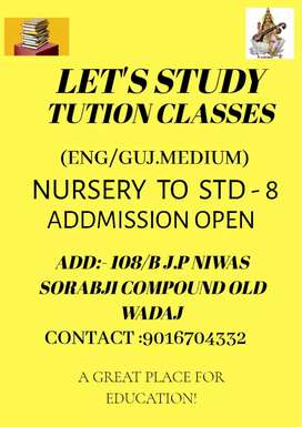 Let's study tution classes provide group or personal tutions