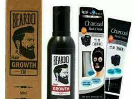 Beardo bread growth oil with charcoal mask ComBo