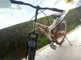 It's almost new cycle with dual Suspension and front disc brake.