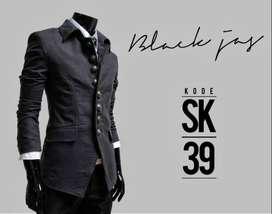 Blazer Casual Simply Korean Style Black