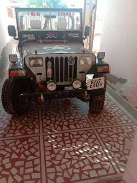 Open jeep with ok condition