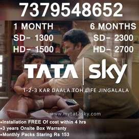 TataSky Authorised DTH Dish Partner Tata Sky HD SD Set top Box Airtel