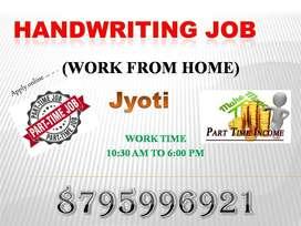 Work from home (Handwriting Note making work )
