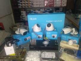 paket  HILOOK 4 kamera 2mp full hd, terima beres