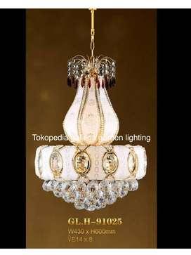lampu gantung hias kristal dekorasi ruang keluarga 81025/430 ID63