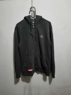 Jaket Sweater ZipHoodie, ADIDAS (BASKET BALL), Good Preloved Condition