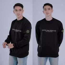 Jaket sweater crewneck murah original rebel id