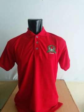 Kaos polo shirt polos dan bordir ready stok