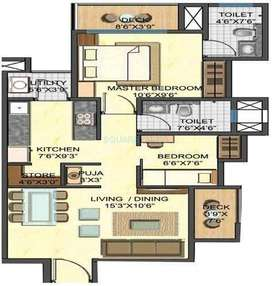 2 Bhk at 53 lacs in casario with parking +3lacs discount