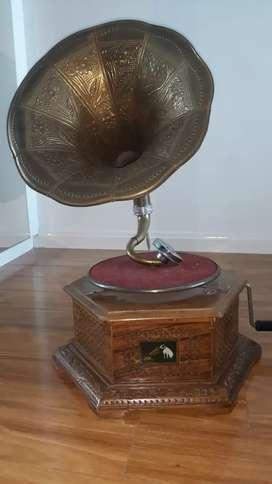 Antique gramophone - His Masters Voice