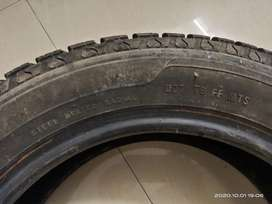 Used pair of MRF tubeless  tyres- 145/70R13 71 S
