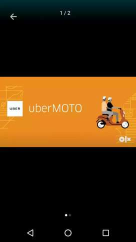 UBER MOTO bike taxi service