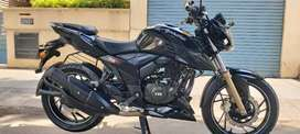 TVS Apache RTR 200cc black colour single owner