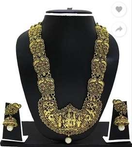Zaveri Jewellery Set Temple Design