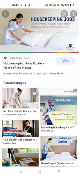 Requirement for 2 female house keeping staff for home
