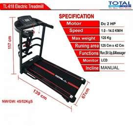 alat olahraga fitness / TL 618 treadmill 3in1
