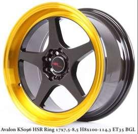 Avalon Ks096 Hsr R17x75 85 H8x100-114,3 et 35 Bk GoldL