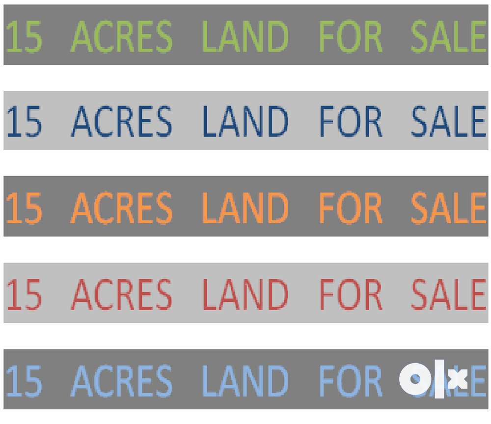 15 acres of dry land for sale