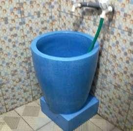 Bak Mandi Teraso  finishing glossy  biru muda FREE ONGKIR BEKASI KOTA