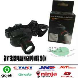 senter kepala high power zoom / senter gunung / headlamp