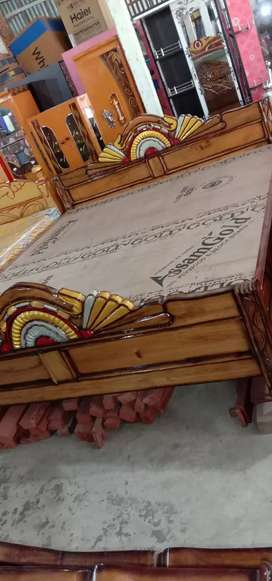 Simple accacia double bed 6*7