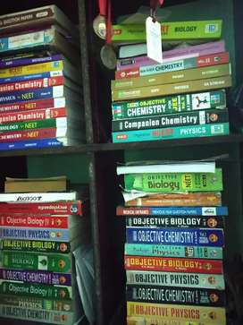 All types of neet ug medical entrance coaching books with half prize