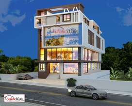 3000 sq ft showroom space available at rent main road russle chowk