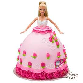 Home made cakes and chocolates,Barbie Doll Cake at 1000