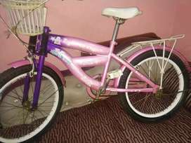 Branded girls cycle