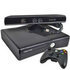Xbox 360 with two wireless controllers