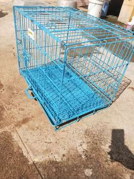 Cage for puppy/birds/cats Foldable, color : blue