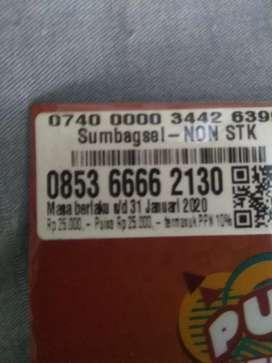Nomor as kW 6666 kartu Perdana as