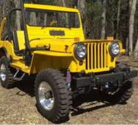Modified Willy yellow jeep