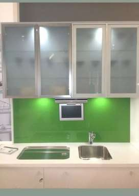 Kitchen cabinets aluminium glass