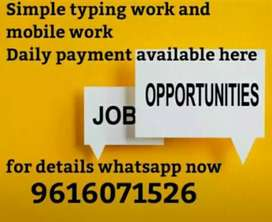 Get paid daily for simple work on your mobile at your own place