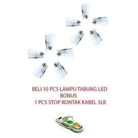 Paket 10 Lampu led 5 Watt Bonus Stop KontakKabel 3 Lubang Super Murah