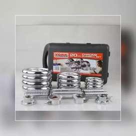 Dumbell Set Chrome Barbel 20 Kg // Gerhard CH 14B58