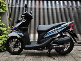 Honda Spacy PGM Fi 2016 helm in. Istimewa. Pemakai. Putih.