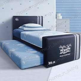 Bed Dorong SERTA JR Double Bed Only Matras Latex uk120x200 - Medan