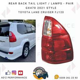 Rear Back Taillight Back Lamp Pair GX470 Style Prado FJ120 J120