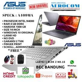 Laptop Asus A409MA Intel Celeron / Ram 4GB / Hdd 1000GB / Win 10 Ori