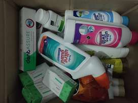 Face wash.. shampoo home cleaner soap etc